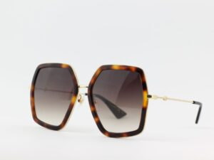 Gucci – GG0106S-002 56 Sunglass WOMAN METAL